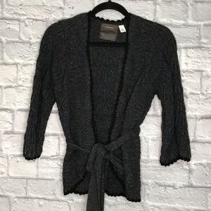 Guinevere Wool Blend Knitted Sweater Cardigan
